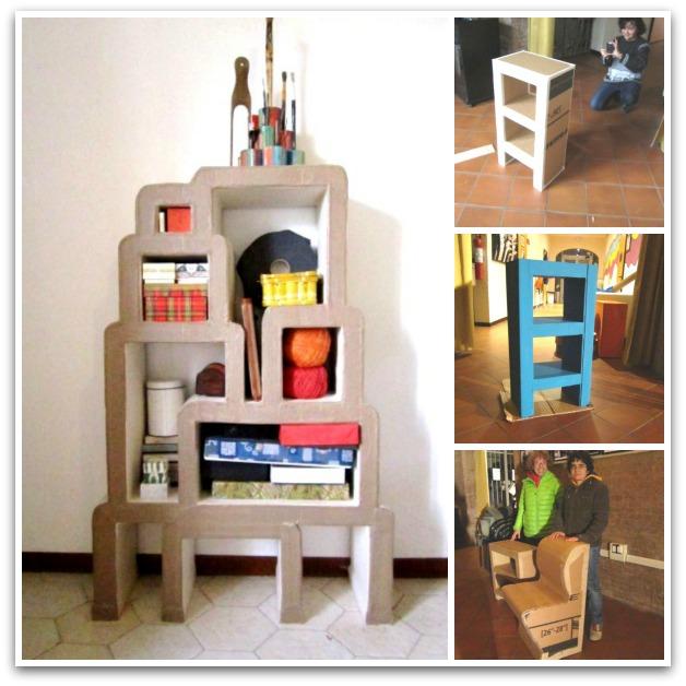 Costruzione dei mobili in cartone laboratorio di riciclo - Costruire mobili in cartone ...